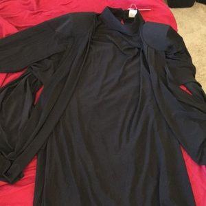 ASOS caplet post apocalyptic drapey mini dress NWT